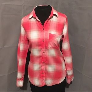 American eagle vintage bf flannel button down